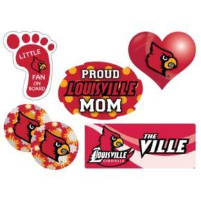 Louisville Cardinals Proud Mom 6-Piece Decal Set