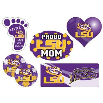 LSU Tigers Proud Mom 6-Piece Decal Set