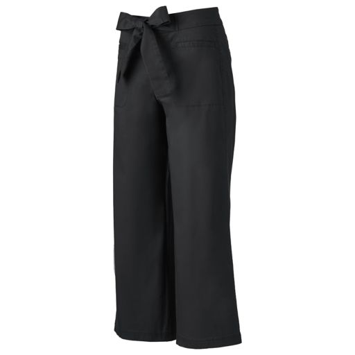 Juniors' SO® Tie Front Chino Culottes