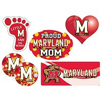 Maryland Terrapins Proud Mom 6-Piece Decal Set