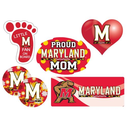 Maryland Terrapins Proud Mom 6-Piece Decal Set