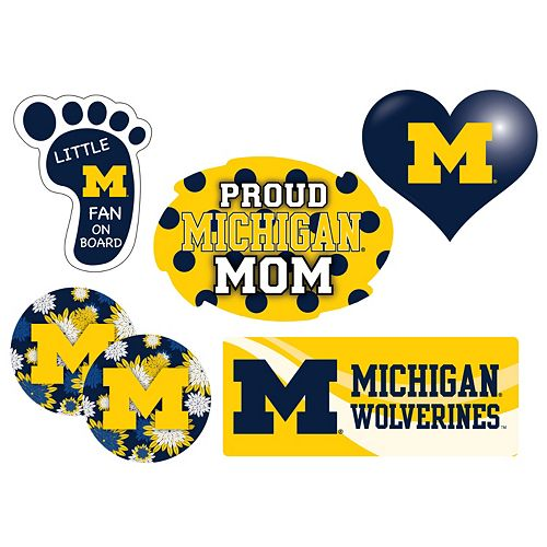 Michigan Wolverines Proud Mom 6-Piece Decal Set
