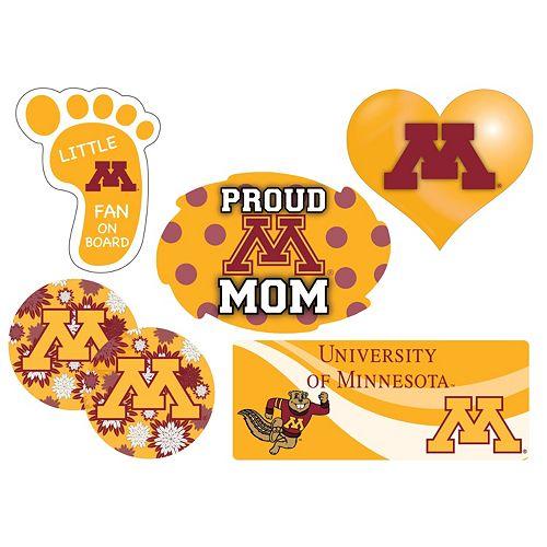 Minnesota Golden Gophers Proud Mom 6-Piece Decal Set