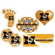 Missouri Tigers Proud Mom 6 pc Decal Set