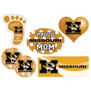 Missouri Tigers Proud Mom 6-Piece Decal Set