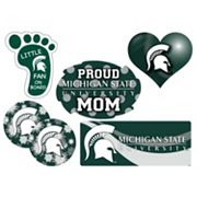 Michigan State Spartans Proud Mom 6 pc Decal Set