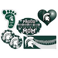 Michigan State Spartans Proud Mom 6-Piece Decal Set