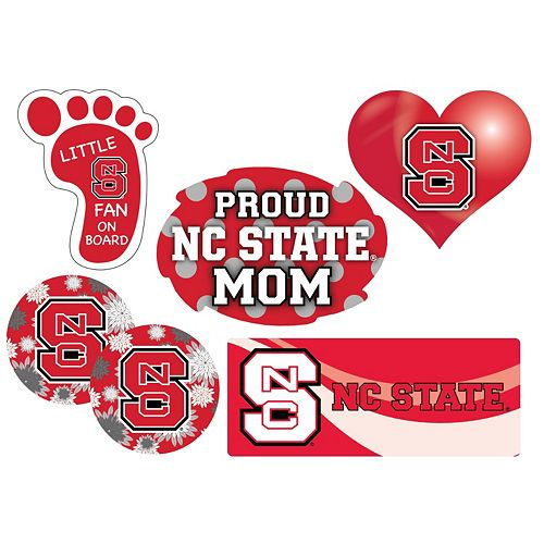 North Carolina State Wolfpack Proud Mom 6-Piece Decal Set