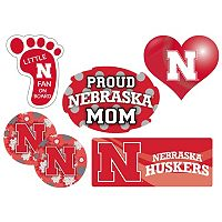 Nebraska Cornhuskers Proud Mom 6 pc Decal Set