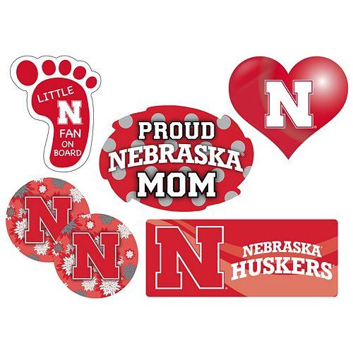 Nebraska Cornhuskers Proud Mom 6-Piece Decal Set