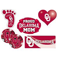 Oklahoma Sooners Proud Mom 6 pc Decal Set