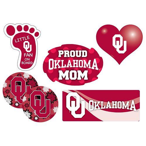 Oklahoma Sooners Proud Mom 6-Piece Decal Set