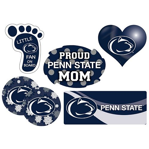 Penn State Nittany Lions Proud Mom 6-Piece Decal Set