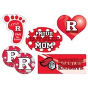 Rutgers Scarlet Knights Proud Mom 6 pc Decal Set