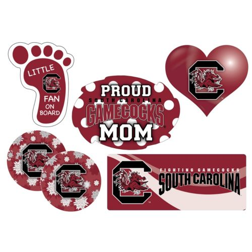 South Carolina Gamecocks Proud Mom 6-Piece Decal Set