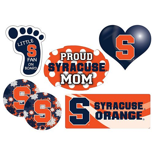 Syracuse Orange Proud Mom 6-Piece Decal Set