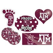 Texas A&M Aggies Proud Mom 6 pc Decal Set