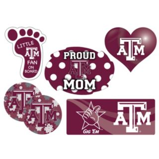 Texas A&M Aggies Proud Mom 6-Piece Decal Set