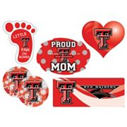 Texas Tech Red Raiders Proud Mom 6 pc Decal Set