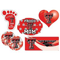 Texas Tech Red Raiders Proud Mom 6-Piece Decal Set