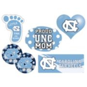 North Carolina Tar Heels Proud Mom 6-Piece Decal Set