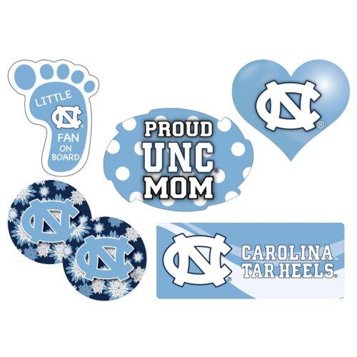 North Carolina Tar Heels Proud Mom 6-Piece Decal Set