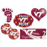 Virginia Tech Hokies Proud Mom 6-Piece Decal Set