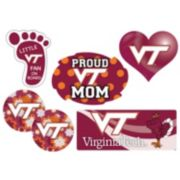 Virginia Tech Hokies Proud Mom 6-Piece Decal Set