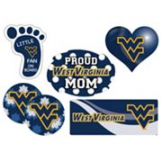 West Virginia Mountaineers Proud Mom 6 pc Decal Set