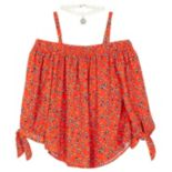 Girls 7-16 IZ Amy Byer Off The Shoulder Top with Necklace