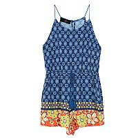 Girls 7-16 IZ Amy Byer Printed Border Romper