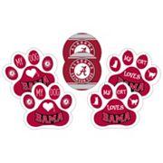 Alabama Crimson Tide Pet 6 pc Magnet Set