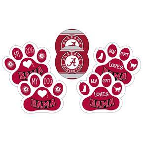 Alabama Crimson Tide Pet 6-Piece Magnet Set