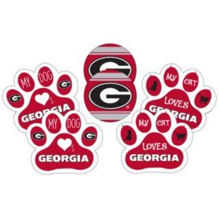 Georgia Bulldogs Pet 6-Piece Magnet Set