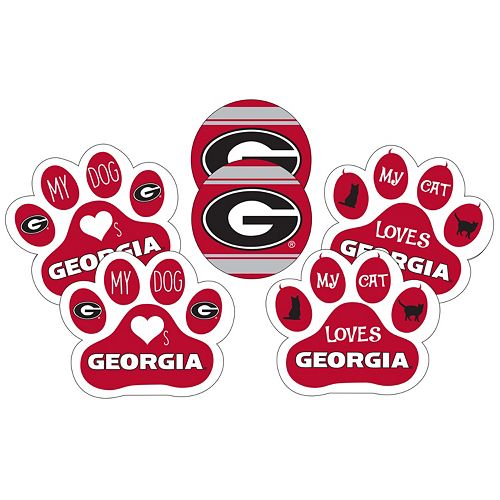 Georgia Bulldogs Pet 6-Piece Magnet Set