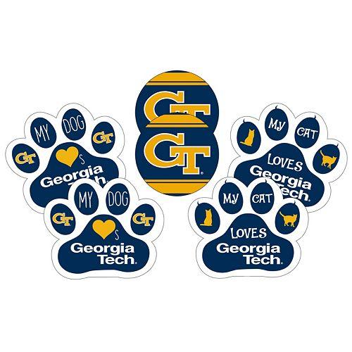 Georgia Tech Yellow Jackets Pet 6-Piece Magnet Set