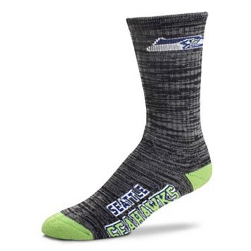 Men's For Bare Feet Seattle Seahawks Deuce Crew Socks