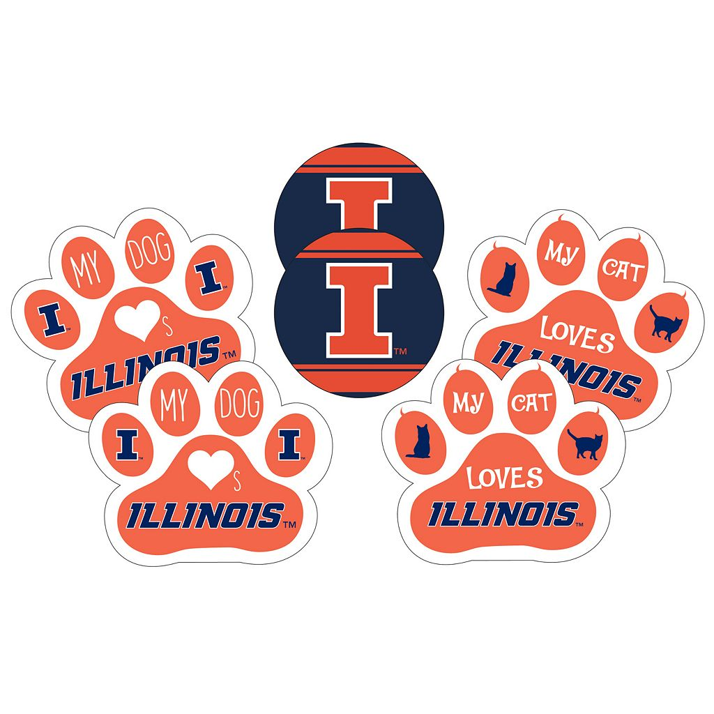 Illinois Fighting Illini Pet 6-Piece Magnet Set