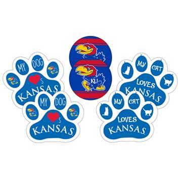 Kansas Jayhawks Pet 6-Piece Magnet Set