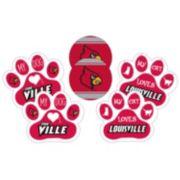 Louisville Cardinals Pet 6-Piece Magnet Set