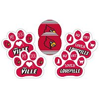 Louisville Cardinals Pet 6 pc Magnet Set