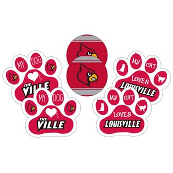 Louisville Cardinals Pet 6-Piece Magnet Set