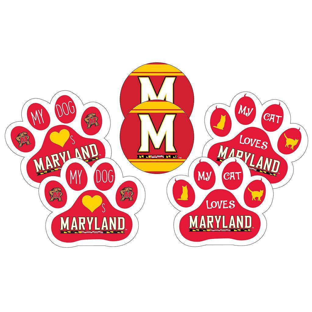 Maryland Terrapins Pet 6-Piece Magnet Set