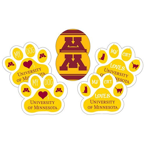 Minnesota Golden Gophers Pet 6-Piece Magnet Set