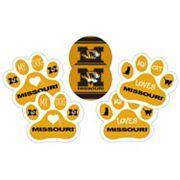 Missouri Tigers Pet 6 pc Magnet Set