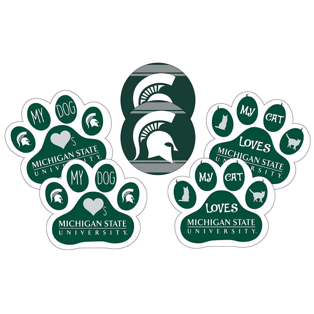 Michigan State Spartans Pet 6-Piece Magnet Set