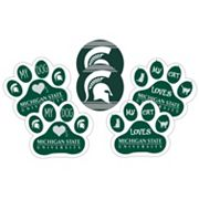 Michigan State Spartans Pet 6 pc Magnet Set