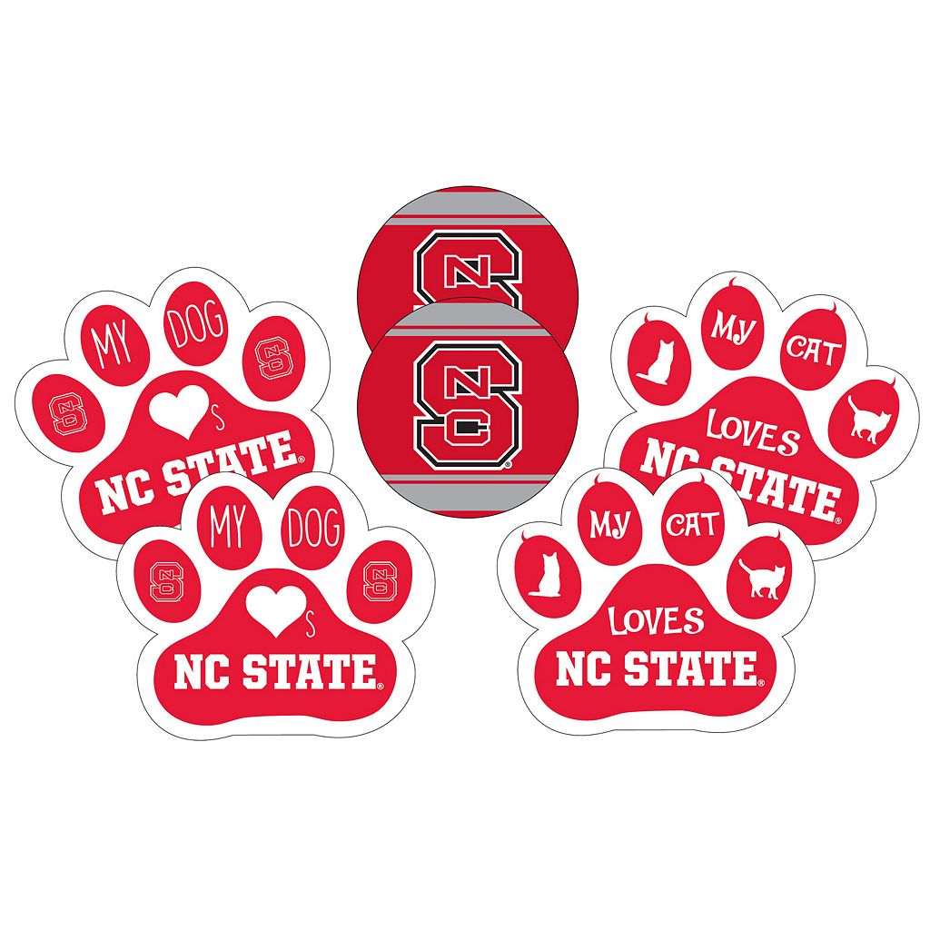North Carolina State Wolfpack Pet 6-Piece Magnet Set