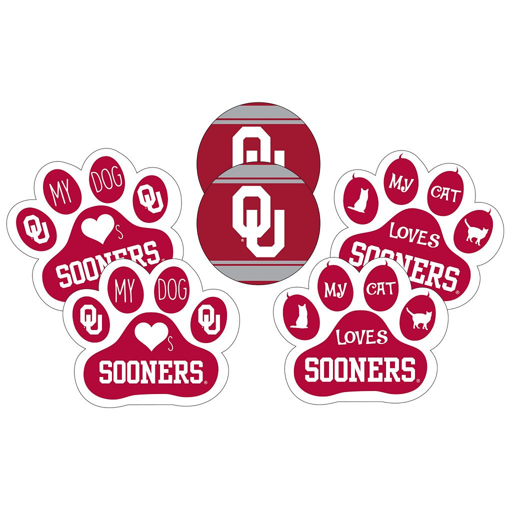Oklahoma Sooners Pet 6-Piece Magnet Set