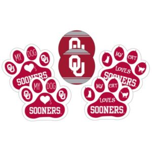 Oklahoma Sooners Pet 6-Piece Magnet Set